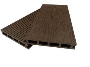 Террасная доска 145х22 вельвет/текстура «под дерево» Шоколад